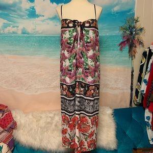 Clover Canyon Multi- Floral Chiffon Dress